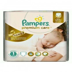 Pampers - Pack 78 Couches Premium Care taille 1 sur Couches Center