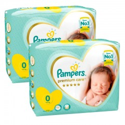 Pampers - Mega pack 120 Couches Premium Care taille 0 sur Couches Center