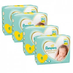 Pampers - Giga pack 240 Couches Premium Care taille 0 sur Couches Center