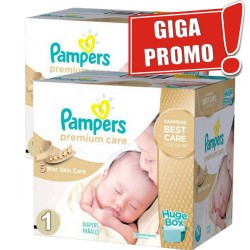 Pampers - Giga pack 208 Couches Premium Care taille 1 sur Couches Center