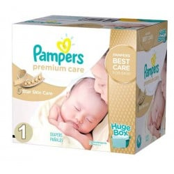 Pampers - Maxi giga pack 312 Couches Premium Care taille 1 sur Couches Center
