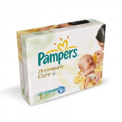 Pampers - Maxi giga pack 364 Couches Premium Care taille 1 sur Couches Center