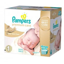 Pampers - Maxi mega pack 416 Couches Premium Care taille 1 sur Couches Center
