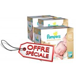 Pampers - Maxi mega pack 468 Couches Premium Care taille 1 sur Couches Center