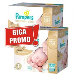 Pampers - Pack jumeaux 520 Couches Premium Care taille 1 sur Couches Center