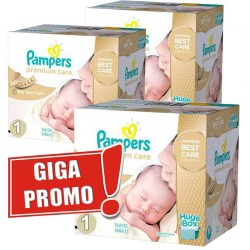 Pampers - Pack jumeaux 572 Couches Premium Care taille 1 sur Couches Center