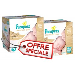 Pampers - Pack jumeaux 728 Couches Premium Care taille 1 sur Couches Center