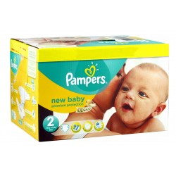 Pampers - Maxi giga pack 340 Couches New Baby Dry taille 2 sur Couches Center
