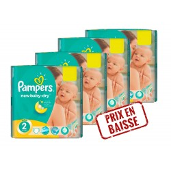 Pampers - Pack jumeaux 612 Couches New Baby Dry taille 2 sur Couches Center