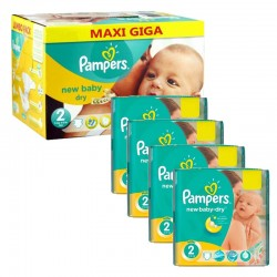 Pampers - Pack jumeaux 816 Couches New Baby Dry taille 2 sur Couches Center