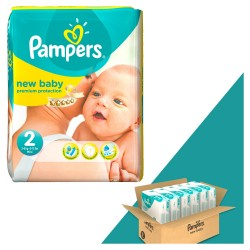 Pampers - Pack jumeaux 884 Couches New Baby Dry taille 2 sur Couches Center