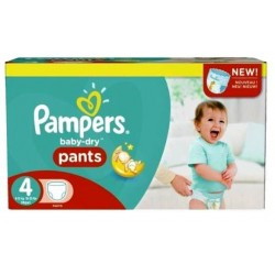 Pampers - Mega pack 124 Couches Baby Dry Pants taille 4 sur Couches Center