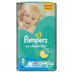 Pampers - Pack 42 Couches Active Baby Dry taille 5 sur Couches Center