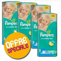 Pampers - Giga pack 294 Couches Active Baby Dry taille 5 sur Couches Center