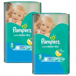 Pampers - Maxi giga pack 378 Couches Active Baby Dry taille 5 sur Couches Center