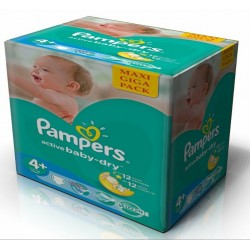 Pampers - Maxi giga pack 348 Couches Active Baby Dry taille 4+ sur Couches Center