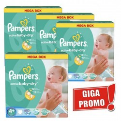 Pampers - Maxi mega pack 406 Couches Active Baby Dry taille 4+ sur Couches Center