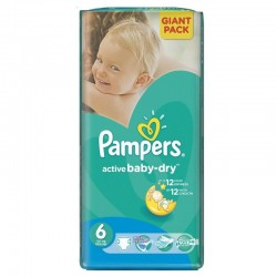 Pampers - Pack 48 Couches Active Baby Dry taille 6 sur Couches Center
