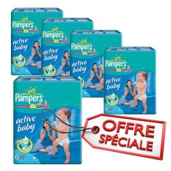 Pampers - Pack 96 Couches Active Baby Dry taille 6 sur Couches Center