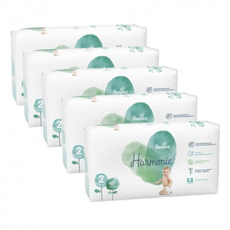 Pampers - Pack 78 Couches Harmonie taille 2 sur Couches Center