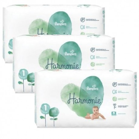 Pampers - Giga pack 272 Couches Harmonie taille 1 sur Couches Center