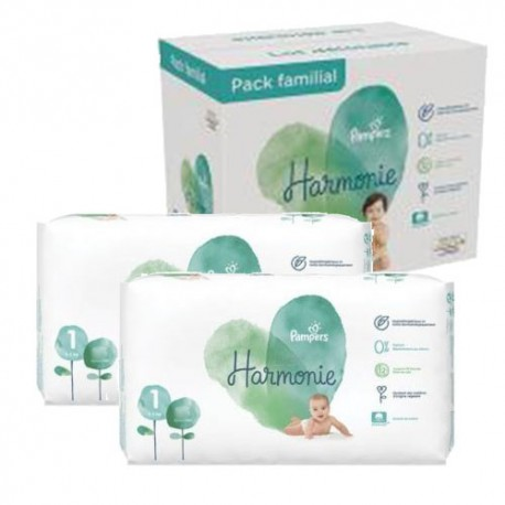 Pampers - Pack jumeaux 544 Couches Harmonie taille 1 sur Couches Center
