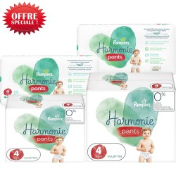 Pampers - Mega pack 116 Couches Harmonie Pants taille 4 sur Couches Center