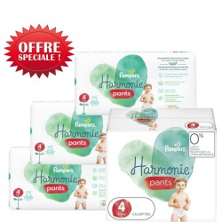 Pampers - Pack jumeaux 522 Couches Harmonie Pants taille 4 sur Couches Center