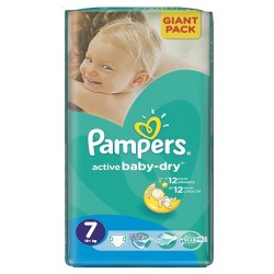 Pampers - Pack 44 Couches Active Baby Dry taille 7 sur Couches Center