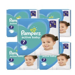 Pampers - Pack 88 Couches Active Baby Dry taille 7 sur Couches Center