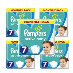 Pampers - Mega pack 132 Couches Active Baby Dry taille 7 sur Couches Center