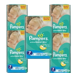 Pampers - Mega pack 176 Couches Active Baby Dry taille 7 sur Couches Center