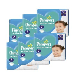 Pampers - Maxi giga pack 308 Couches Active Baby Dry taille 7 sur Couches Center