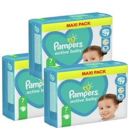 Pampers - Maxi giga pack 352 Couches Active Baby Dry taille 7 sur Couches Center