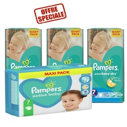Pampers - Pack 66 Couches Active Baby Dry taille 7 sur Couches Center