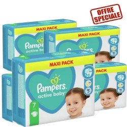Pampers - Pack 99 Couches Active Baby Dry taille 7 sur Couches Center