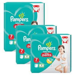 Pampers - Giga pack 200 Couches Baby Dry Pants taille 7 sur Couches Center