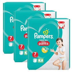 Pampers - Maxi giga pack 360 Couches Baby Dry Pants taille 7 sur Couches Center