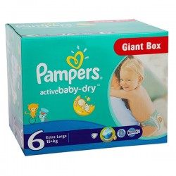 Giga Pack 144 couches Pampers Active Baby Dry sur Couches Center