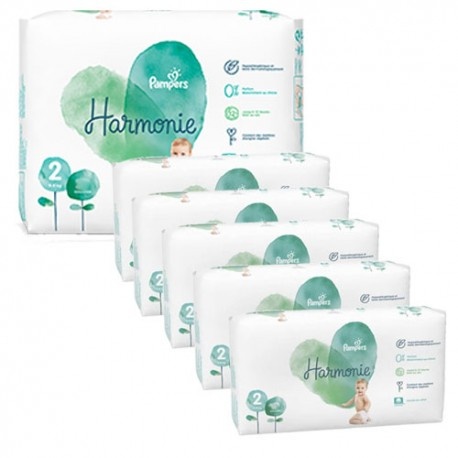 Pampers - Pack jumeaux 624 Couches Harmonie taille 2 sur Couches Center