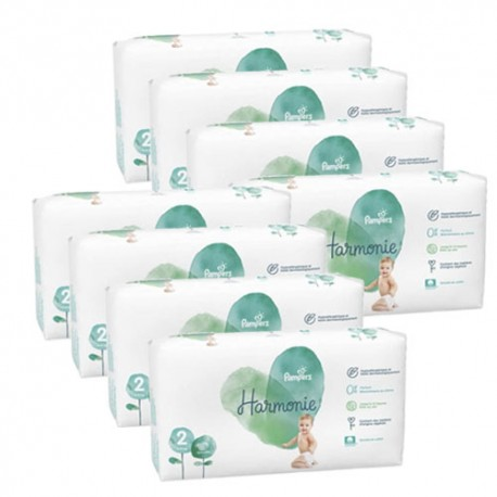 Pampers - Pack jumeaux 780 Couches Harmonie taille 2 sur Couches Center