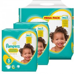 Pampers - Pack 80 Couches Premium Protection taille 5 sur Couches Center