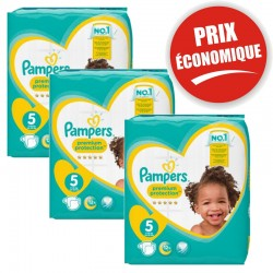 Pampers - Mega pack 120 Couches Premium Protection taille 5 sur Couches Center