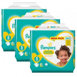 Pampers - Giga pack 200 Couches Premium Protection taille 5 sur Couches Center