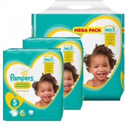 Pampers - Maxi mega pack 460 Couches Premium Protection taille 5 sur Couches Center