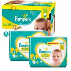 Pampers - Mega pack 168 Couches Premium Protection taille 4 sur Couches Center