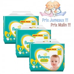 Pampers - Giga pack 240 Couches Premium Protection taille 4 sur Couches Center