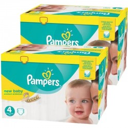 Pampers - Maxi giga pack 384 Couches Premium Protection taille 4 sur Couches Center