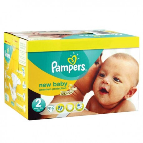 Pampers - Maxi giga pack 372 Couches Premium Protection taille 2 sur Couches Center