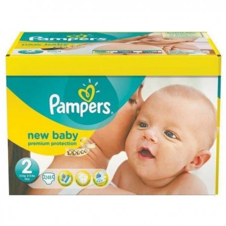 Pampers - Maxi mega pack 403 Couches Premium Protection taille 2 sur Couches Center